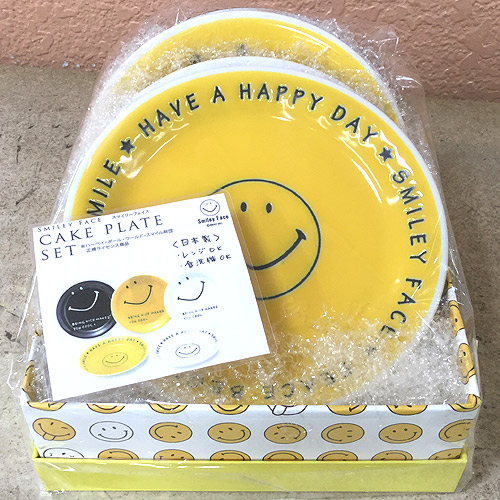 Smiley Face ケーキプレートセット